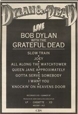 11/2/89Pgn08 Advert: Bob Dylan With The Grateful Dead Recorded Live'87 10x7