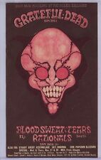 1968 December 1, Detroit Grande Ballroom Postcard Grateful Dead BST Rationals EX