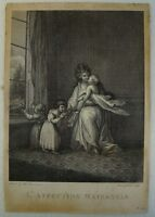#3 - Etching from Amad Gabrieli - Interior - Láffection Maternelle - 18. Century