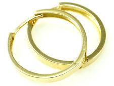 585 Gold Creolen kleine Klappcreolen in der Größe 10,7 mm x 2,2 mm Breite 1 Paar