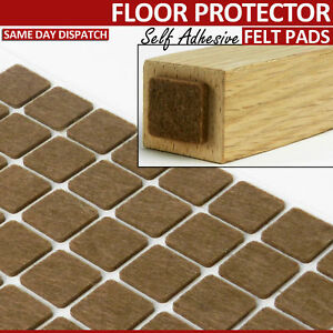 BROWN SQUARE FELT FURNITURE PADS SELF ADHESIVE CHAIR LEG FLOOR PROTECTOR SIZES