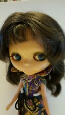 vintage KENNER BLYTHE doll 1972 BRUNETTE HAIR in original makeup and outfit 7lns