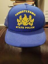 Vintage Pennsylvania State Police  Hat Cap Snapback Mesh