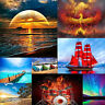 5D DIY Full Round Drill Diamond Painting Landscape Cross Stitch Embroidery Kit