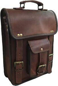 Genuine Leather Unisex Sling Bag Messenger Shoulder Crossbody Briefcase Laptop