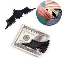 Stainless Steel Men Bat Money Clip Slim Wallet Cash Holder Magnetic