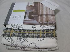 New Threshold Fabric Shower Curtain  Ivory Ruffle - Gray/Ivory  72x72 NIP