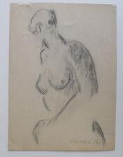 Sigfred Pedersen ( Danish. 1903 )  Art Deco Female nude  Dated 1939.