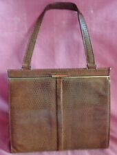 Brown Lizard Leather Ladies Handbag Harrods