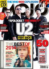 MOJO January 2015,U2 BONO, The WHO,Beck,Jack White,Robert Plant FREE CD