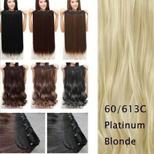 US Real 1PC 5 Clips Clip In Hair Extensions Hairpiece Hair Extentions Human f8