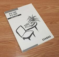 Genuine Casio User's Guide / Manual Only For PV-100 & PV-200 **READ**