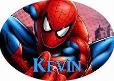 PLAQUE DE PORTE OVALE RIGIDE  réf 156 spiderman personnalisée prénom chambre