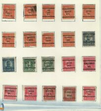 USA LOT / COLLECTION OF (83) STAMPS CITY PRECANCELS