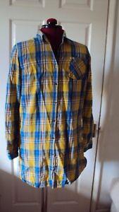 NEXT Girl's Blue & Yellow Multi Casual Dress Shirt Blouse Top - UK 15