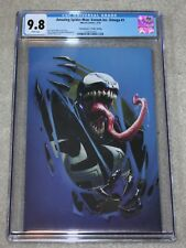 VENOM INC OMEGA 1 CGC 9.8 CRAIN BLUE VIRGIN COMICXPOSURE VARIANT SPIDER-MAN RARE