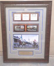 American Pharaoh Triple Crown Plaque Framed Matted Horse Racing Derby Belmont, +