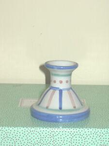 M. A. Hadley Signed Stoneware Pottery Candle Holder Candlesticks Vase