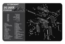 "TekMat, For Sig Sauer P238 238 P938 938 Pistol Mat, 11""x17"", Black and Gray"