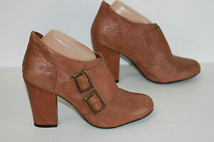 Boots DEENA AND OZZY Cuir Marron Bouts Ronds T 39 TTBE