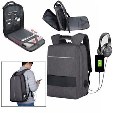 17inch Unisex Laptop Backpack Bag w/h USB Charging and Headphone Port Waterproof