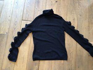 Nougat London black silk jumper/top  size 10-12