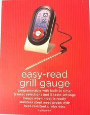 New~ Easy Read Grill Gauge Programable With Built-In Timer ~ Great Gift