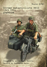 1/35 Scale Armor35 - German motorcyclists WWII, (Set III) FIGURES ONLY