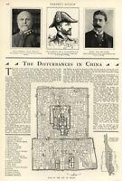 China Boxer Rebellion Beijing Peking City Plan Harper's Weekly 1900 old print