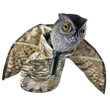 Prowler Owl Predator Decoy With 113CM Moving Wing Scarecrow Bird Scarer Windsock