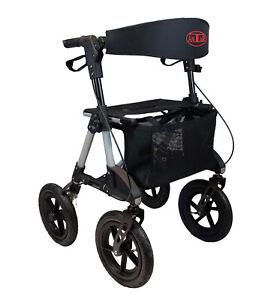 Antar Leichtgewicht Outdoor Rollator mit Luftbereifung große Räder faltbar 8,7kg