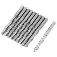 10pcs 2 Flute Spiral Router Bit for Wood CNC End Mill Tungsten Milling Cutter