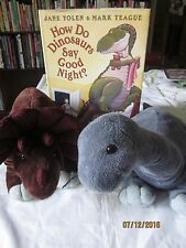 lot of How Do Dinosaurs Say Good Night? by Jane Yolen , 3  plush dinosaurs