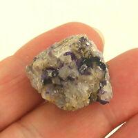 Blue John Fluorite Crystal Specimen Derbyshire UK 2cm 11g Unpolished