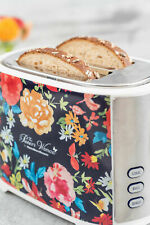 Pioneer Woman Extra-Wide Slot 2 Slice Toaster Fiona Floral High-Lift Toast Boost