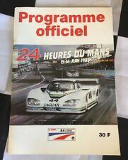 OFFICIAL LE MANS 24 HOURS 1985 RACE PROGRAMME NEWMAN PORSCHE 956 962 LANCIA LC2
