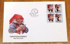 Norway Post FDC 1992.11.23. Christmas Stamps - Nordic Gnomes - Block of Four