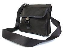 Authentic PRADA Nylon Canvas Leather Khaki Cross- Body Shoulder Bag PS15464L