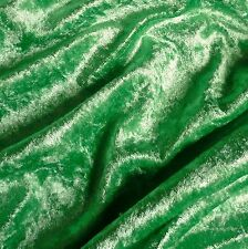 Bright Green Crushed Velvet Velour Fabric - Bridal - Christmas Elf (Per Metre)
