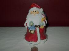SANTA CLAUS Christmas TRINKET BOX FIGURINE Porcelain Candy Dish