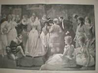 Christmas Rehearsing a Tableau 1891 Lucien Davis print