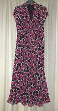 Linea Silk Georgette Dress size 12, pussy bow neck,cross cut, fully lined, bnwt
