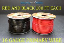 10 GAUGE WIRE 200 FT ENNIS ELECTRONICS 100 RED 100 BLACK PRIMARY AWG COPPER CLAD