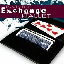 INVISIBLE EXCHANGE WALLET LEATHER SWITCHING MENTALISM MIND READING MAGIC TRICKS