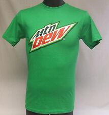 Green Mtn Mountain Dew Spell Out Logo Soft Drink Soda Pop Beverage Shirt S NWOT