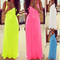 New Women Summer Boho Maxi Long Evening Party Cocktail Beach Dress Lace·Sundress