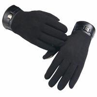 Hommes d'hiver pleine doigts des gants tactile Smartphone en cachemire d'ec S4D5