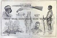 Antique Print 78-026 Bushrangers - New Kelly in Glenrowan c.1880 Bushrangers