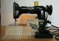 SERVICED PFAFF 130 SEWING MACHINE ANTIQUE MAQUINA DE COSER VINTAGE ZIGZAG Extras