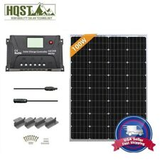 HQST 100W 12V Solar Panel Starter Kit W/ 20A Controller Off Grid Battery Charger